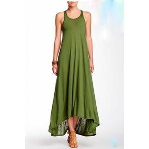 American Twist Los Angeles green maxi dress